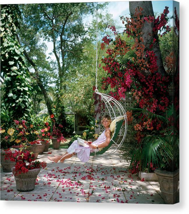 Barbados Canvas Print featuring the photograph Barbados Bliss by Slim Aarons