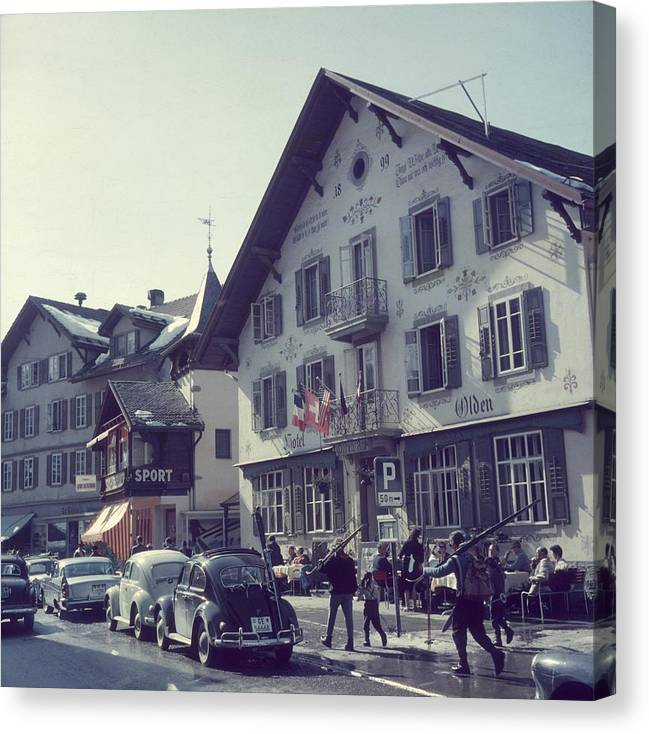 Gstaad Canvas Print featuring the photograph Hotel Olden by Slim Aarons