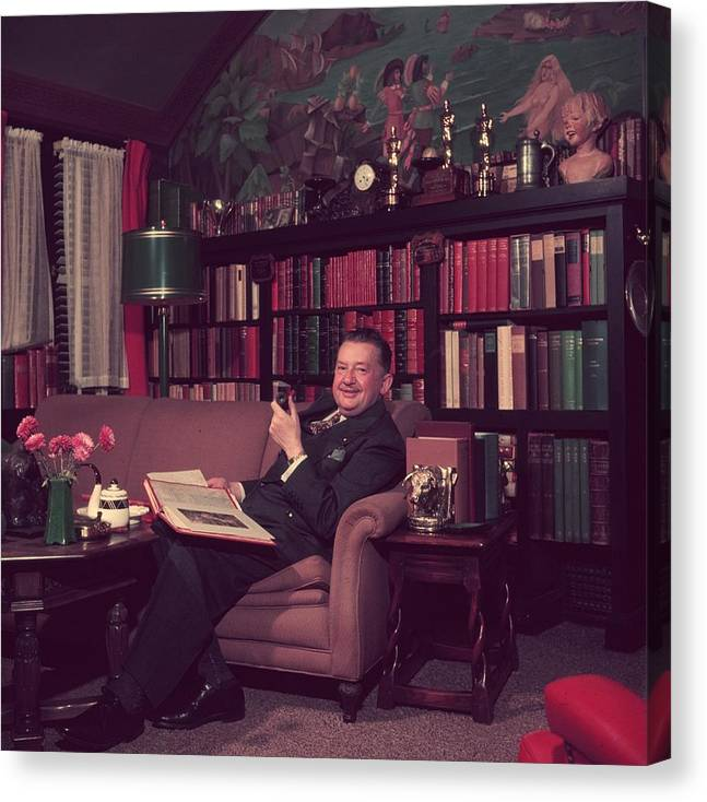 People Canvas Print featuring the photograph Jean Hersholt by Slim Aarons