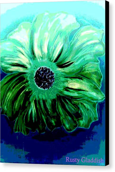Design Canvas Print featuring the painting La Flora by Rusty Gladdish