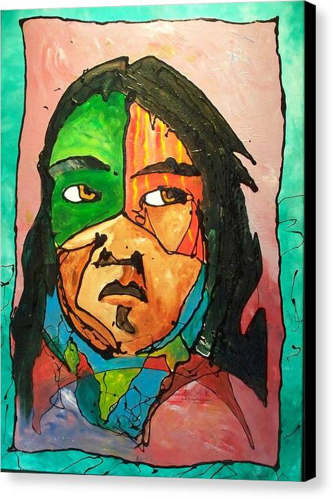 Abstract Canvas Print featuring the painting One Of Two Of The Twins by Ernie Scott- Dust Rising Studios