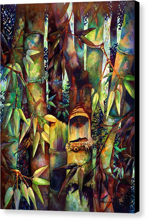 Bamboo Canvas Print featuring the painting The Sentry by Monica Linville