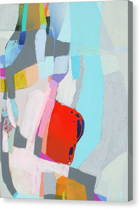 Abstract Canvas Print featuring the painting For What You Are by Claire Desjardins