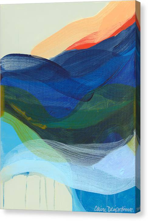 Abstract Canvas Print featuring the painting Deep Sleep Undone by Claire Desjardins