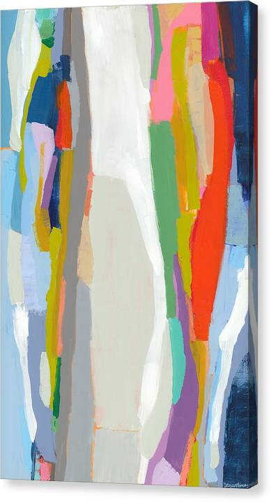 Abstract Canvas Print featuring the painting Aaron And His Greens by Claire Desjardins
