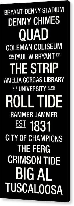 Photo Canvas Print featuring the photograph Alabama College Town Wall Art by Replay Photos