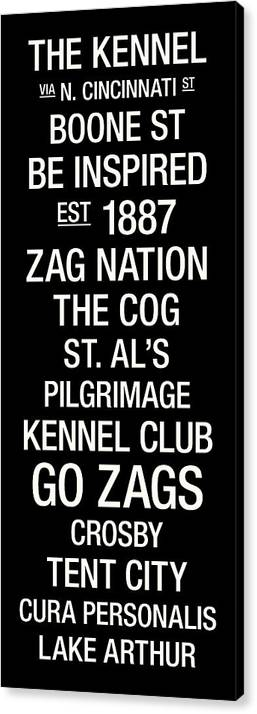 Photo Canvas Print featuring the photograph Gonzaga College Town Wall Art by Replay Photos