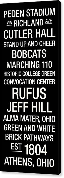 Photo Canvas Print featuring the photograph Ohio University College Town Wall Art by Replay Photos