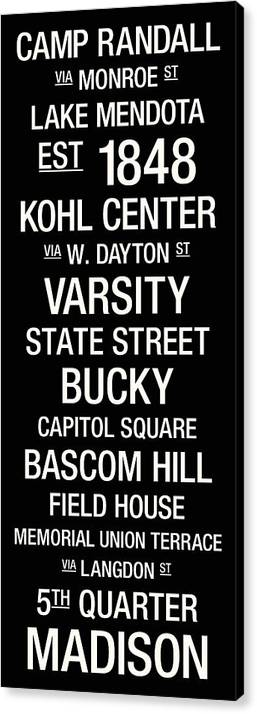 Photo Canvas Print featuring the photograph Wisconsin College Town Wall Art by Replay Photos