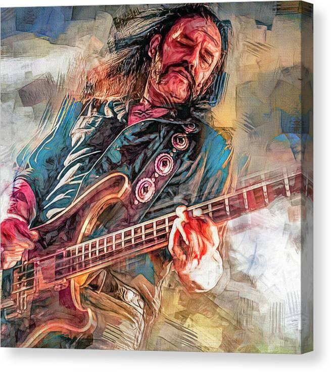 Lemmy Kilmister Bass Player Motorhead by Mal Bray