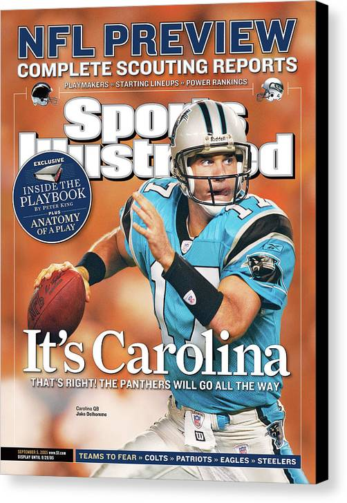 Magazine Cover Canvas Print featuring the photograph 2005 Nfl Football Preview Issue Sports Illustrated Cover by Sports Illustrated