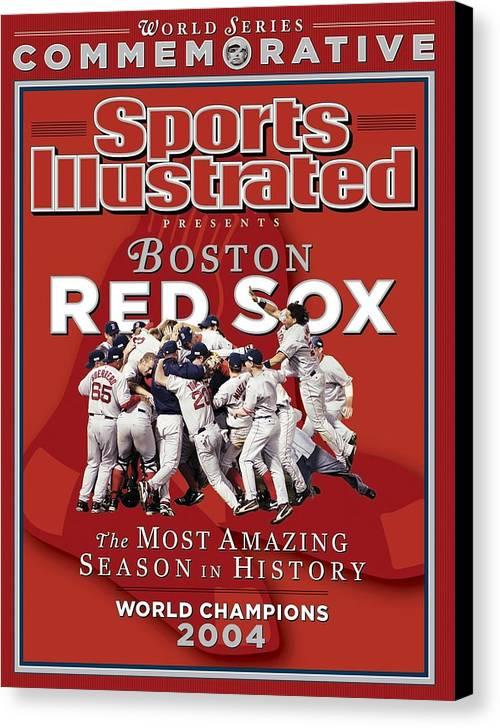 St. Louis Cardinals Canvas Print featuring the photograph Boston Red Sox Vs St. Louis Cardinals, 2004 World Series Sports Illustrated Cover by Sports Illustrated