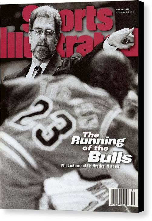Chicago Bulls Canvas Print featuring the photograph Chicago Bulls Coach Phil Jackson Sports Illustrated Cover by Sports Illustrated