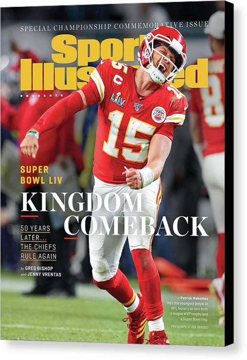Miami Gardens Canvas Print featuring the photograph Kingdom Comeback Kansas City Chiefs, Super Bowl Liv Sports Illustrated Cover by Sports Illustrated