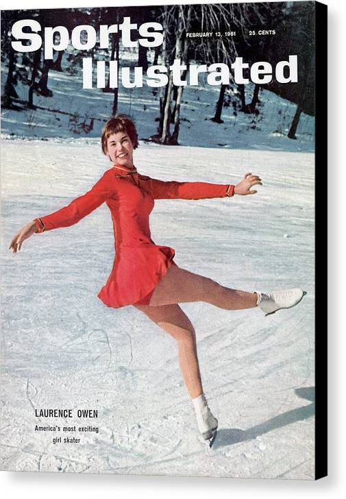 Magazine Cover Canvas Print featuring the photograph Laurence Owen, Figure Skating Sports Illustrated Cover by Sports Illustrated