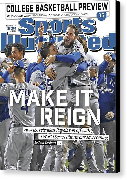 Magazine Cover Canvas Print featuring the photograph Make It Reign How The Resilient Royals Ran Off With A World Sports Illustrated Cover by Sports Illustrated