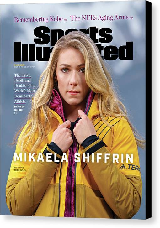 Skiing Canvas Print featuring the photograph Mikaela Shiffrin, Sports Illustrated, March 2020 Sports Illustrated Cover by Sports Illustrated