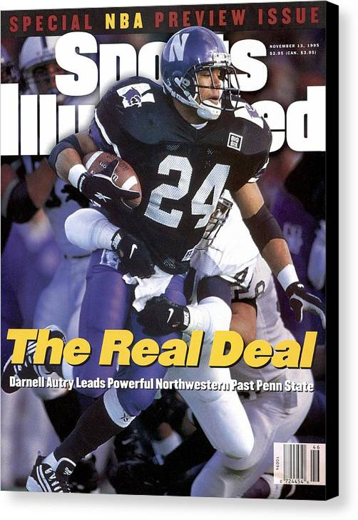 Magazine Cover Canvas Print featuring the photograph Northwestern University Darnell Autry Sports Illustrated Cover by Sports Illustrated