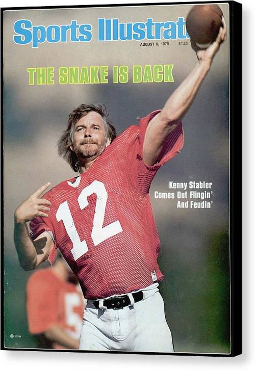 Magazine Cover Canvas Print featuring the photograph Oakland Raiders Qb Kenny Stabler... Sports Illustrated Cover by Sports Illustrated
