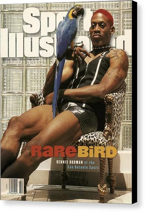Magazine Cover Canvas Print featuring the photograph San Antonio Spurs Dennis Rodman Sports Illustrated Cover by Sports Illustrated