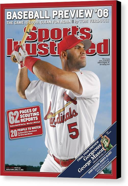 St. Louis Cardinals Canvas Print featuring the photograph St. Louis Cardinals Albert Pujols Sports Illustrated Cover by Sports Illustrated