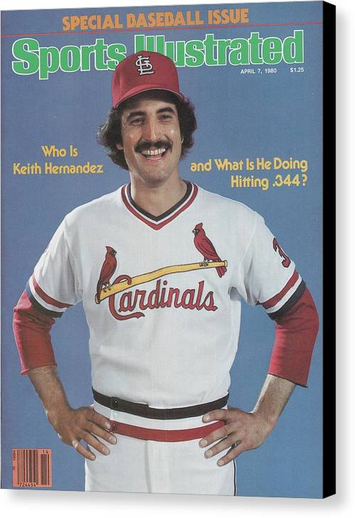 St. Louis Cardinals Canvas Print featuring the photograph St. Louis Cardinals Keith Hernandez Sports Illustrated Cover by Sports Illustrated