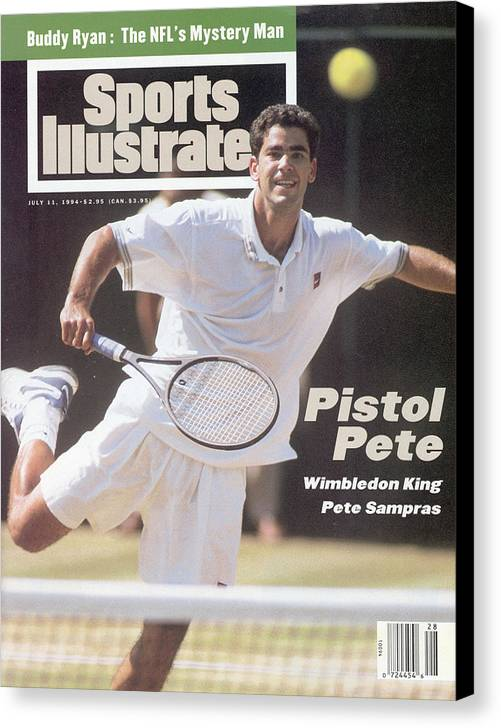 Tennis Canvas Print featuring the photograph Usa Pete Sampras, 1994 Wimbledon Sports Illustrated Cover by Sports Illustrated