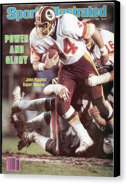 1980-1989 Canvas Print featuring the photograph Washington Redskins John Riggins, Super Bowl Xvii Sports Illustrated Cover by Sports Illustrated