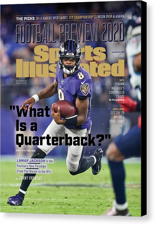 Sports Illustrated Canvas Print featuring the photograph 2020 Football Preview Sports Illustrated Cover by Sports Illustrated