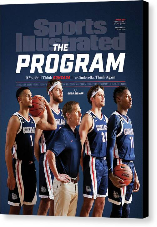 Gonzaga Canvas Print featuring the photograph Gonzaga The Program cover by Sports Illustrated