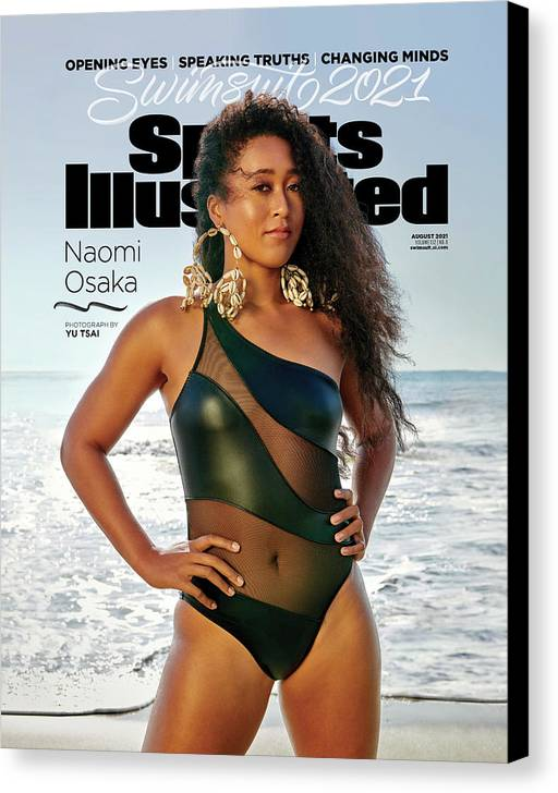 2021 Swimsuit Issue Canvas Print featuring the photograph Naomi Osaka Sports Illustrated Swimsuit 2021 cover by Sports Illustrated