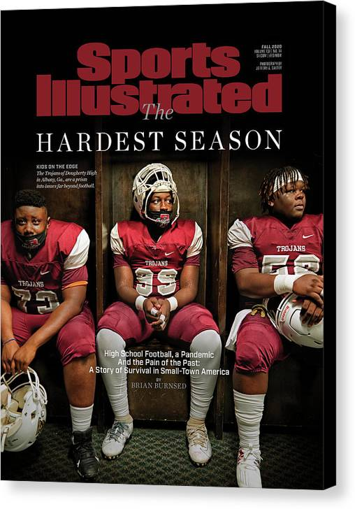 X163367_tk_2_2602cov Canvas Print featuring the photograph The Hardest Season by Sports Illustrated