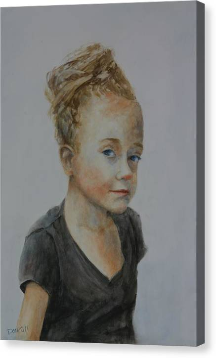 Portraits Canvas Print featuring the painting That Look by Don Cull