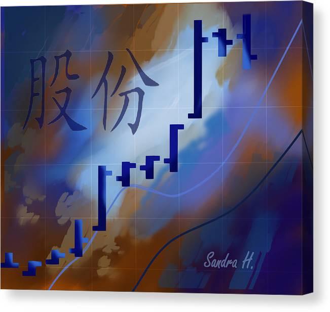 Stock Canvas Print featuring the digital art Bidu by Sandra Holden