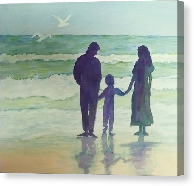 Ocean Canvas Print featuring the painting Focus On The Wonder by Deva Claridge