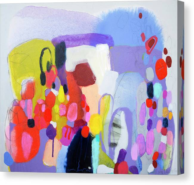Abstract Canvas Print featuring the painting On My Mind by Claire Desjardins