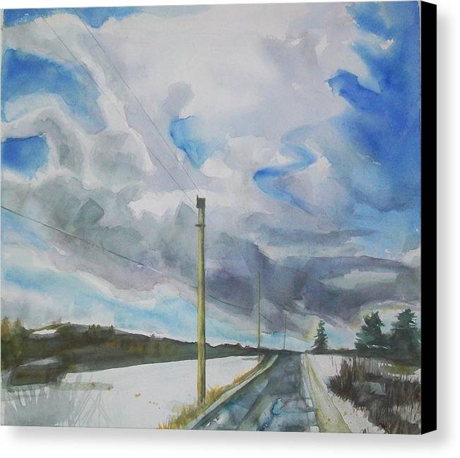 Maine Landscape Canvas Print featuring the painting Carry On by Grace Keown