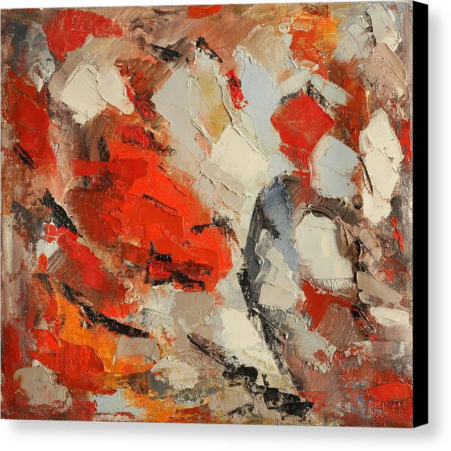 Abstract Canvas Print featuring the painting Surface by Natia Tsiklauri