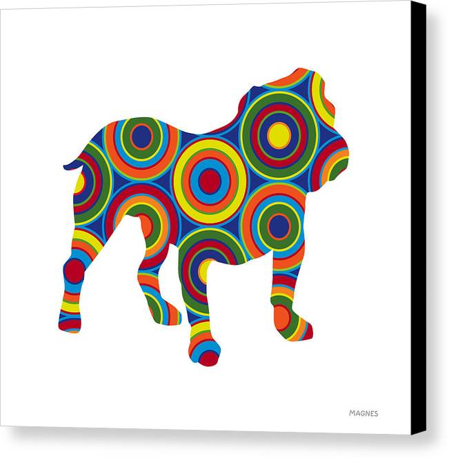 Animals Canvas Print featuring the digital art Bulldog by Ron Magnes