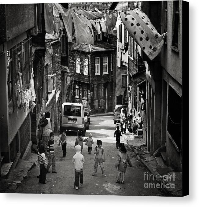 Istanbul Canvas Print featuring the photograph No Nintendo For Them by Michel Verhoef
