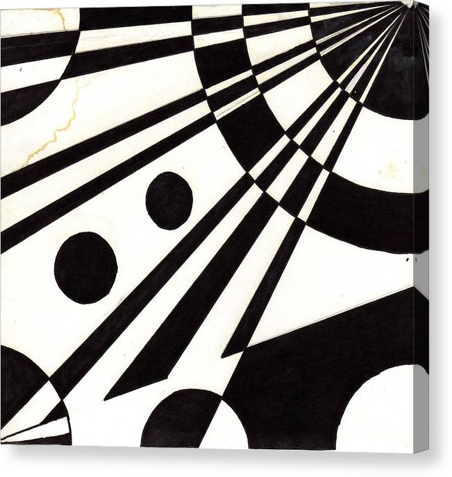 Canvas Print featuring the drawing Wheel by Edith Womack