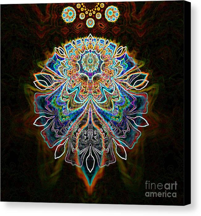 Dark Canvas Print featuring the digital art Aethyr by Aeres Vistaas
