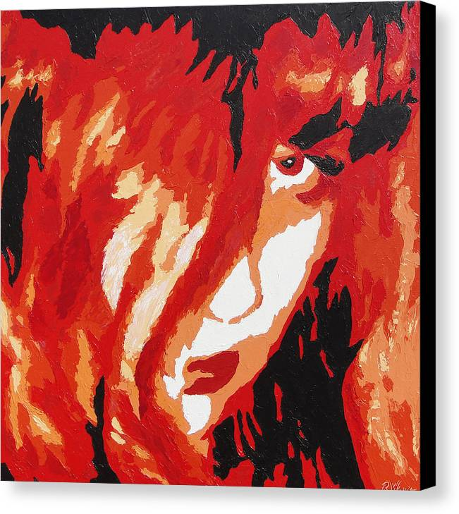 Portrait Canvas Print featuring the painting Consumed by Ricklene Wren