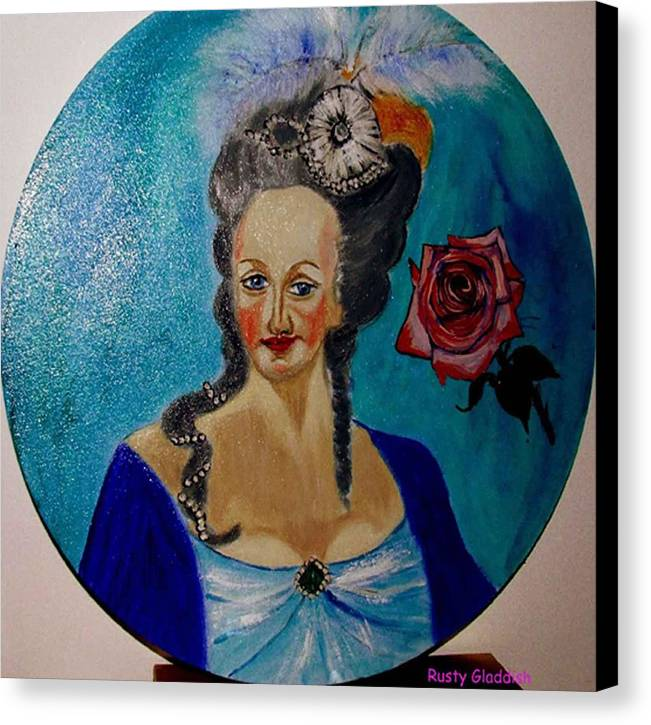 Guillotine Canvas Print featuring the painting Marie Antoinette by Rusty Woodward Gladdish