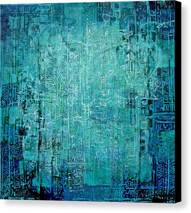 Abstract Canvas Print featuring the painting Secret Entry by Dale Witherow
