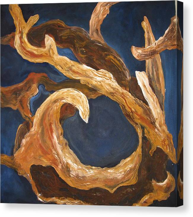 Abstract Nature Canvas Print featuring the painting Driftwood by Ani Magai