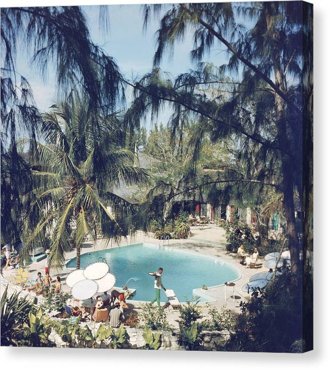 People Canvas Print featuring the photograph French Leave Hotel by Slim Aarons