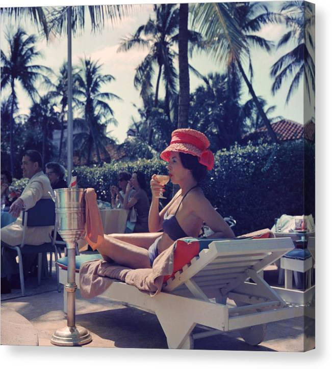 People Canvas Print featuring the photograph Leisure And Fashion by Slim Aarons