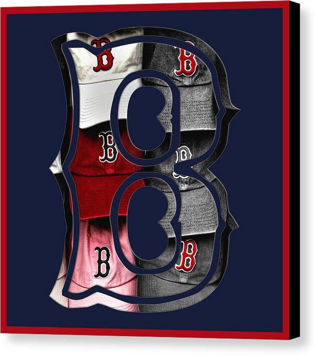 Boston Canvas Print featuring the photograph B For Bosox - Boston Red Sox by Joann Vitali