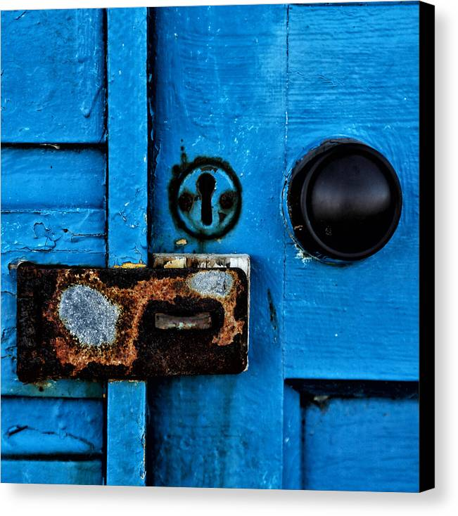 Abstract Canvas Print featuring the photograph Beach Hut Abstract 03 by Russ Dixon